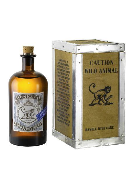 Monkey 47 Schwarzwälder Dry Gin 500 ml -Best in Class- 47 % Vol. in der attraktiven Holzkiste