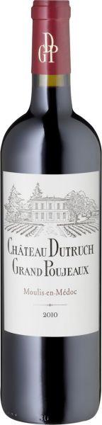 2014, Château Dutruch Grand Poujeaux, AOC Moulis (Bordeaux), 13 % Vol., Frankreich
