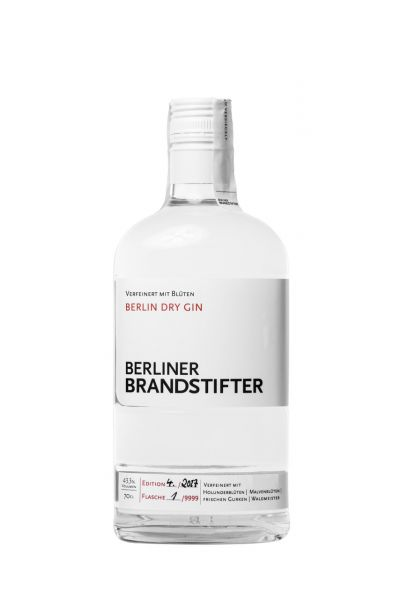 Berliner Brandstifter, Dry Gin, 43,3% Vol., 0,7 l, 7-fach gefiltert