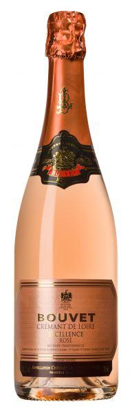 Bouvet Crémant de Loire Rosé Vin mousseux, Méthode Traditionnelle, 12,5 % Vol., France