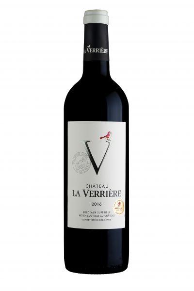2016, Château la Verrière Rot, AOC Bordeaux Supérieur, 14,5 % Vol., Frankreich