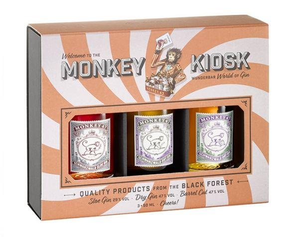 MONKEY KIOSK Wunderbar, 3 x 50 ML Schwarzwald Gin