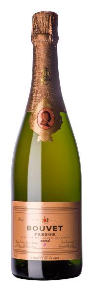 """Bouvet Trésor Rosé Brut """"Nonpareil"""" Vin mousseux, AOC, 12,5 % Alc., Méthode Traditionnelle"""
