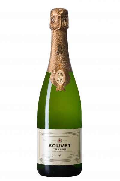 Bouvet Trésor Blanc Saumur Brut, AOC, 12,5 % Alc., Méthode Traditionnelle